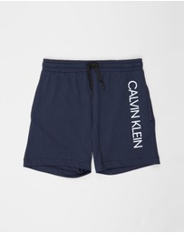 Calvin Klein - Core Placed Logo Beach Shorts - Teens