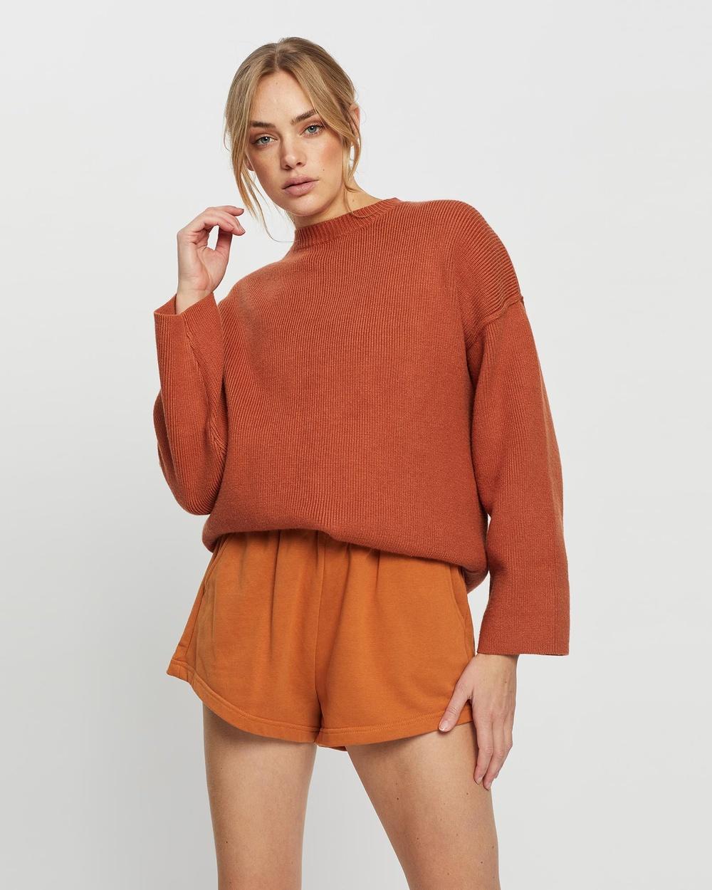 All Fenix Finley Knit Hoodies Rust