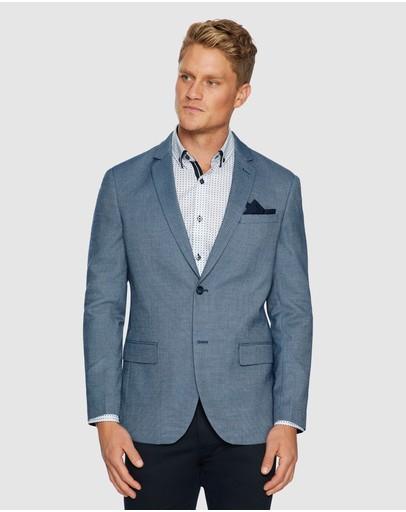 Tarocash Carter Textured Blazer Blue