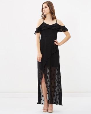 Honey and Beau – Paradise Frill Maxi Dress Black