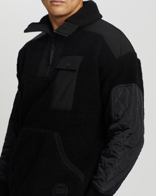 Onitsuka Tiger Boa Top   Men's - T-Shirts & Singlets (Black / Black)