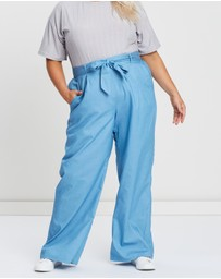Atmos&Here Curvy - Belize Chambray Pants