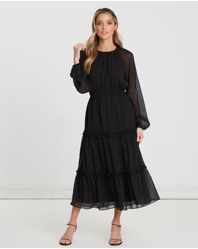 The Fated Fandango Midi Dress Black Spot