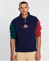 Topman - Flag Panel Zip Sweatshirt