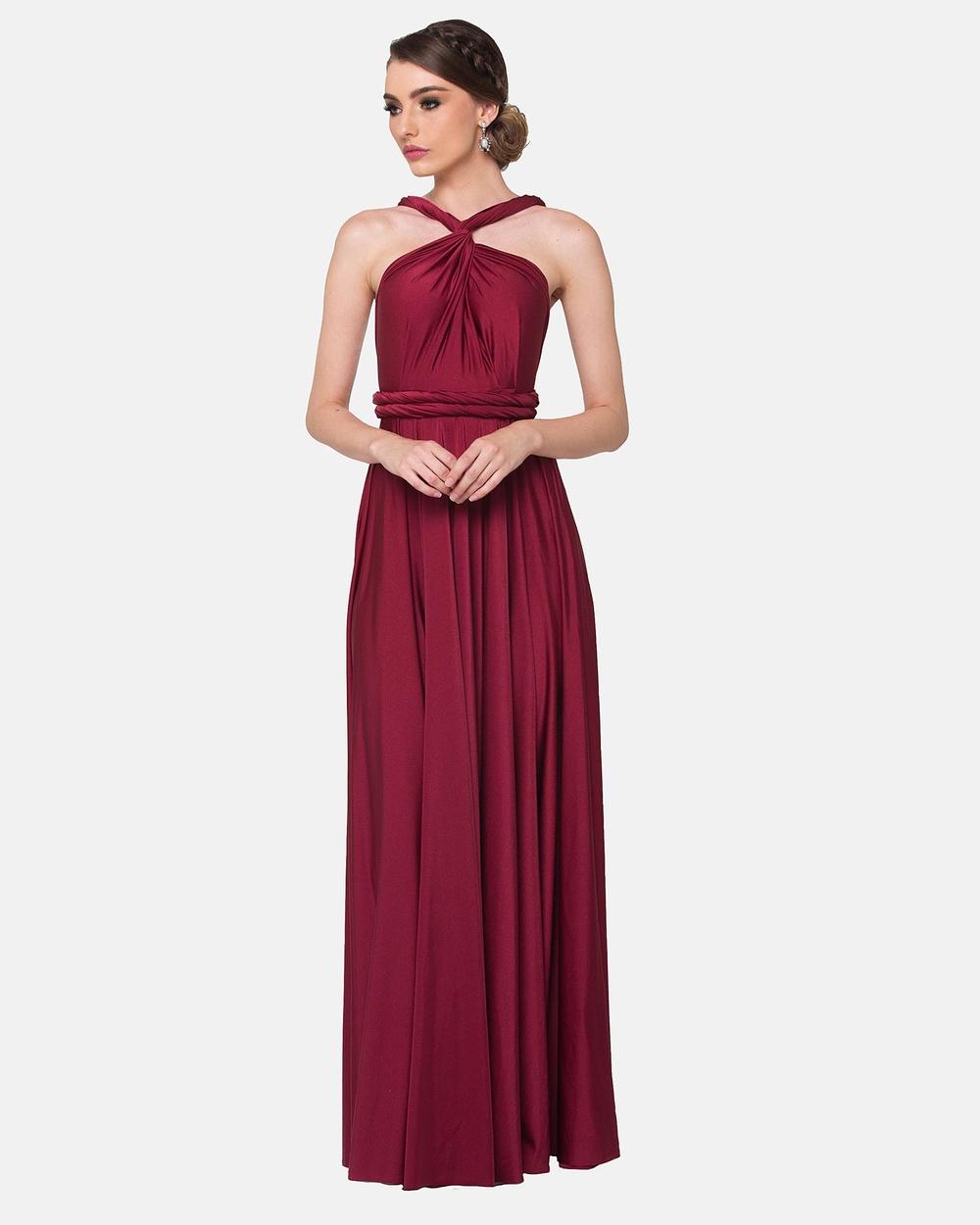 Tania Olsen Designs Wrap Dress Bridesmaid Dresses Merlot Wrap Dress