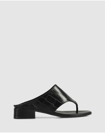 Sempre Di Dunston Sandals 134-black Croco