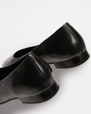 Atmos&Here Deborah Soft Leather Flats - Ballet Flats (Black Leather)