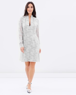 Cooper St – Velvet Blooms Dress Silver