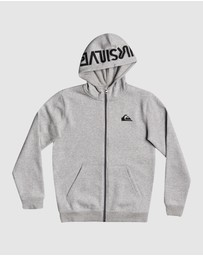 Quiksilver - Boys 8-16 Best Wave Zip-Up Hoodie