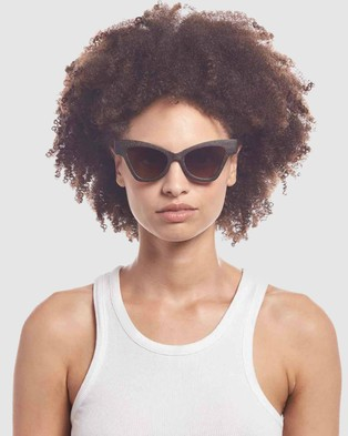 Le Specs Sustainable Hourgrass - Sunglasses (Midnight Grass)