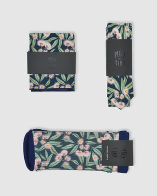 Peggy and Finn Flowering Gum Tie Gift Box Ties & Cufflinks Green