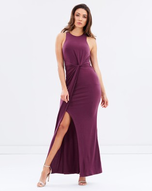 Bariano – Out of Sight, Out of Mind Maxi Dress – Bodycon Dresses Plum