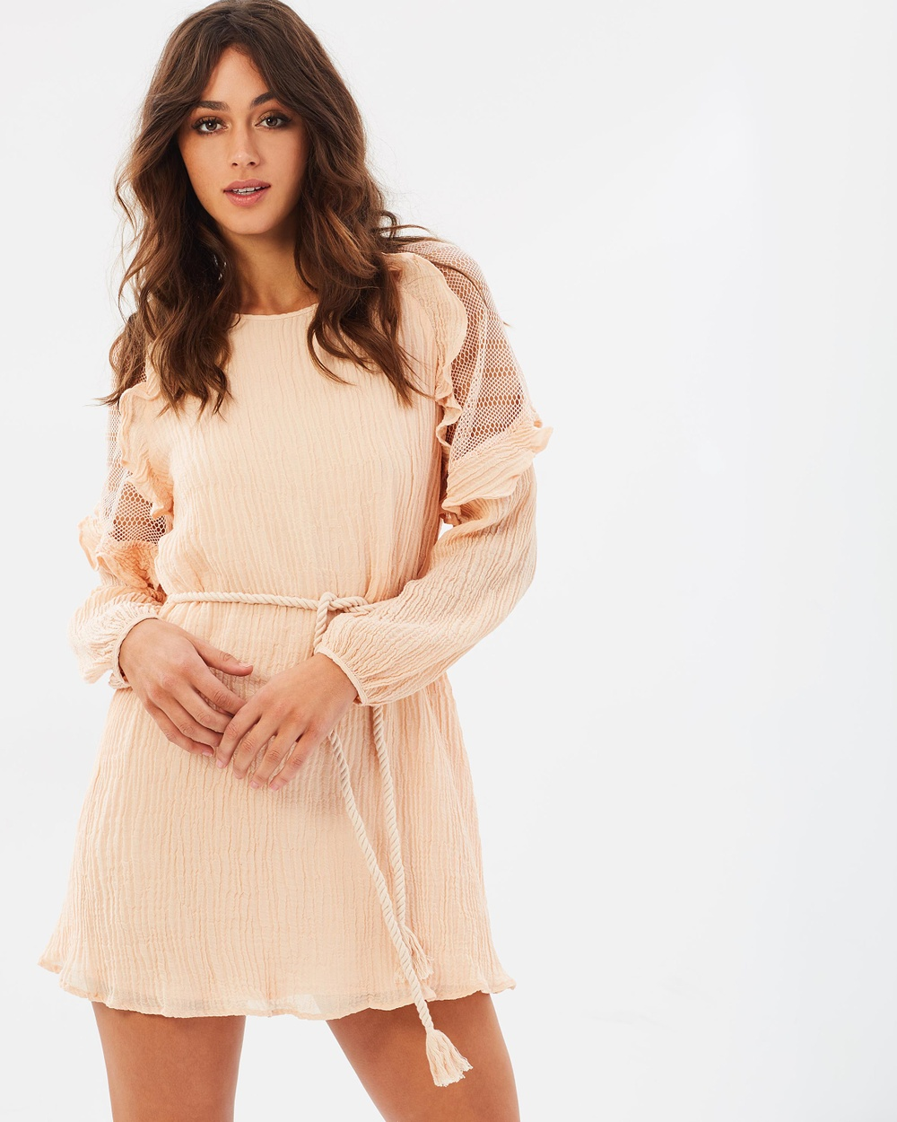 Stevie May Sunday Afternoon Long Sleeve Mini Dress Dresses Dusty Pink Sunday Afternoon Long Sleeve Mini Dress