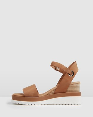 Jo Mercer Kenzie Wedge Sandals - Wedges (Tan)