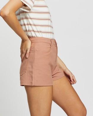 Rusty Ringleader Shorts - High-Waisted (Ash Pink)