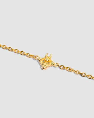 Molten Store The Gold Tiny Bumble Bee Bracelet - Jewellery (Gold)