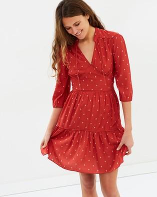 Whistles – Maggie Fleur de Lis Print Dress Cinnamon