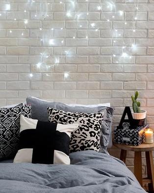 Typo Curtain Lanterns - Home (Clear)