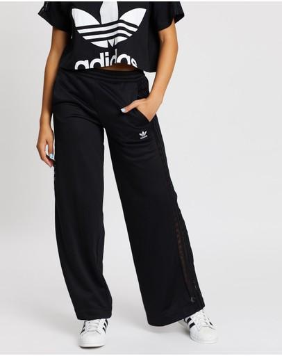 Adidas Originals Wide-leg Lace Pants Black
