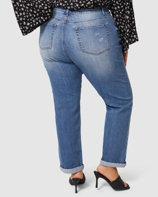 Sunday In The City Immortal Distressed Boyfriend Jeans - Jeans (Blue)