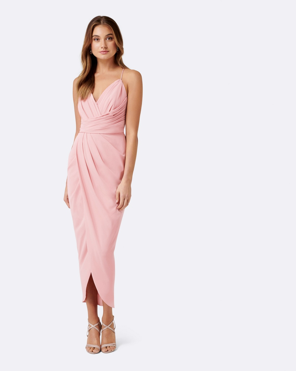 Forever New Charlotte Drape Maxi Dress Bridesmaid Dresses Bridal rose Charlotte Drape Maxi Dress