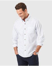 Gazman - Tailored Casual Oxford Check Long Sleeve Shirt