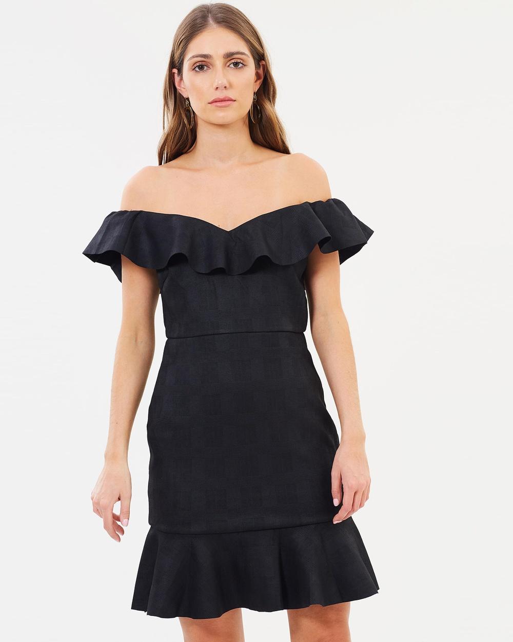 Fresh Soul Veronica Dress Bodycon Dresses Black Check Veronica Dress