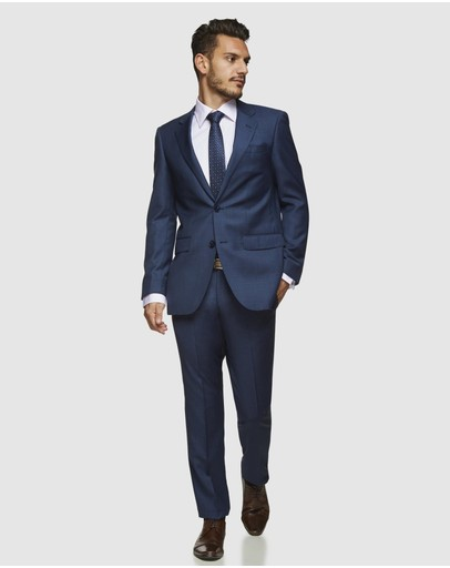Kelly Country Savile Row Adam Pure Wool Suit Set Blue