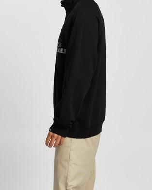 Napapijri Bire Half Zip   Unisex - Sweats (Black)