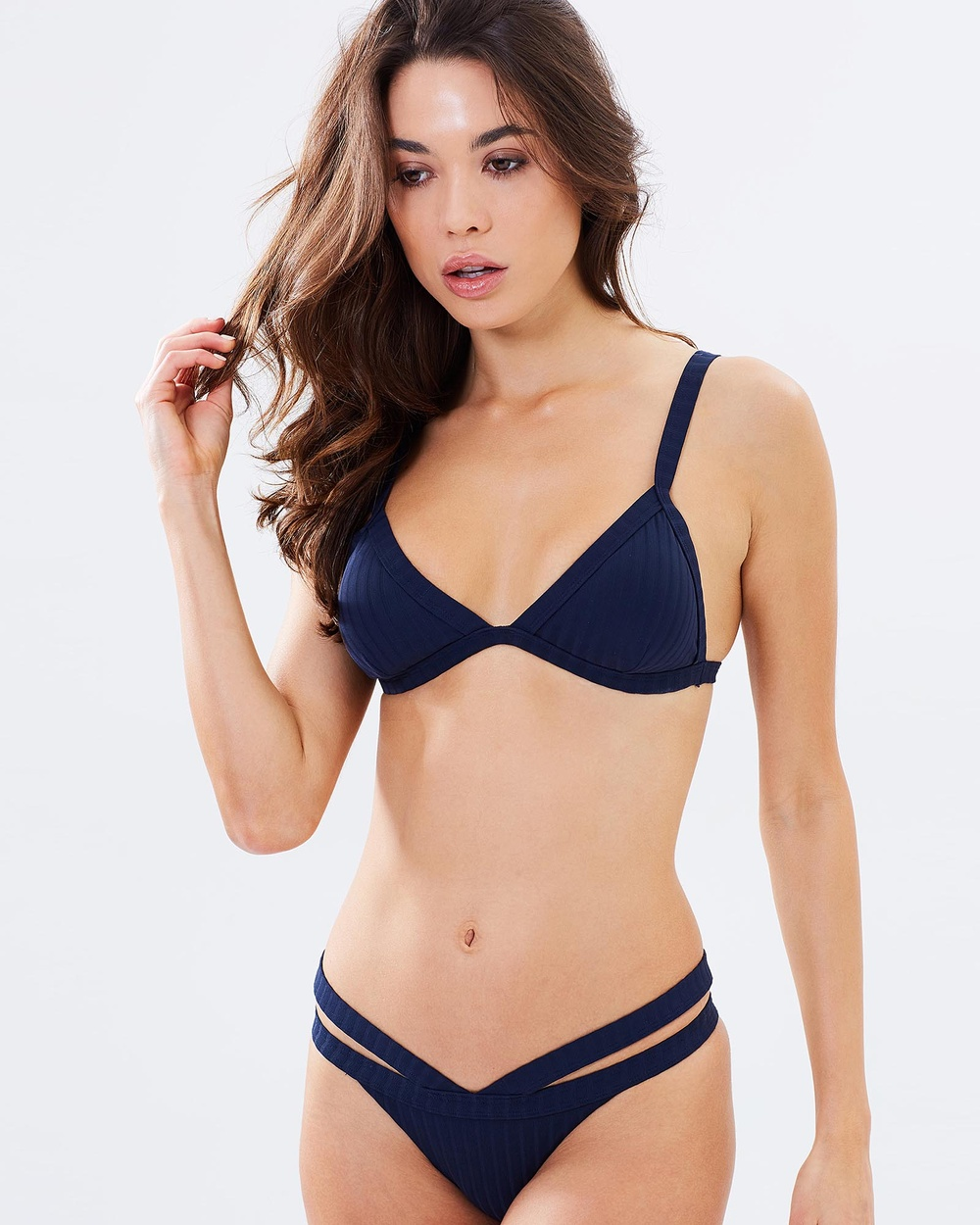 Bond-Eye Swimwear Baddie Rib Bralet Bikini Tops Midnight Baddie Rib Bralet