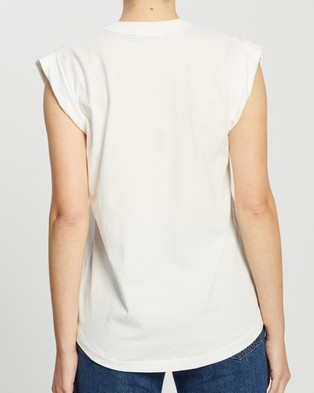 C&M CAMILLA AND MARC Cadiz Logo Tank - T-Shirts & Singlets (White with Black)