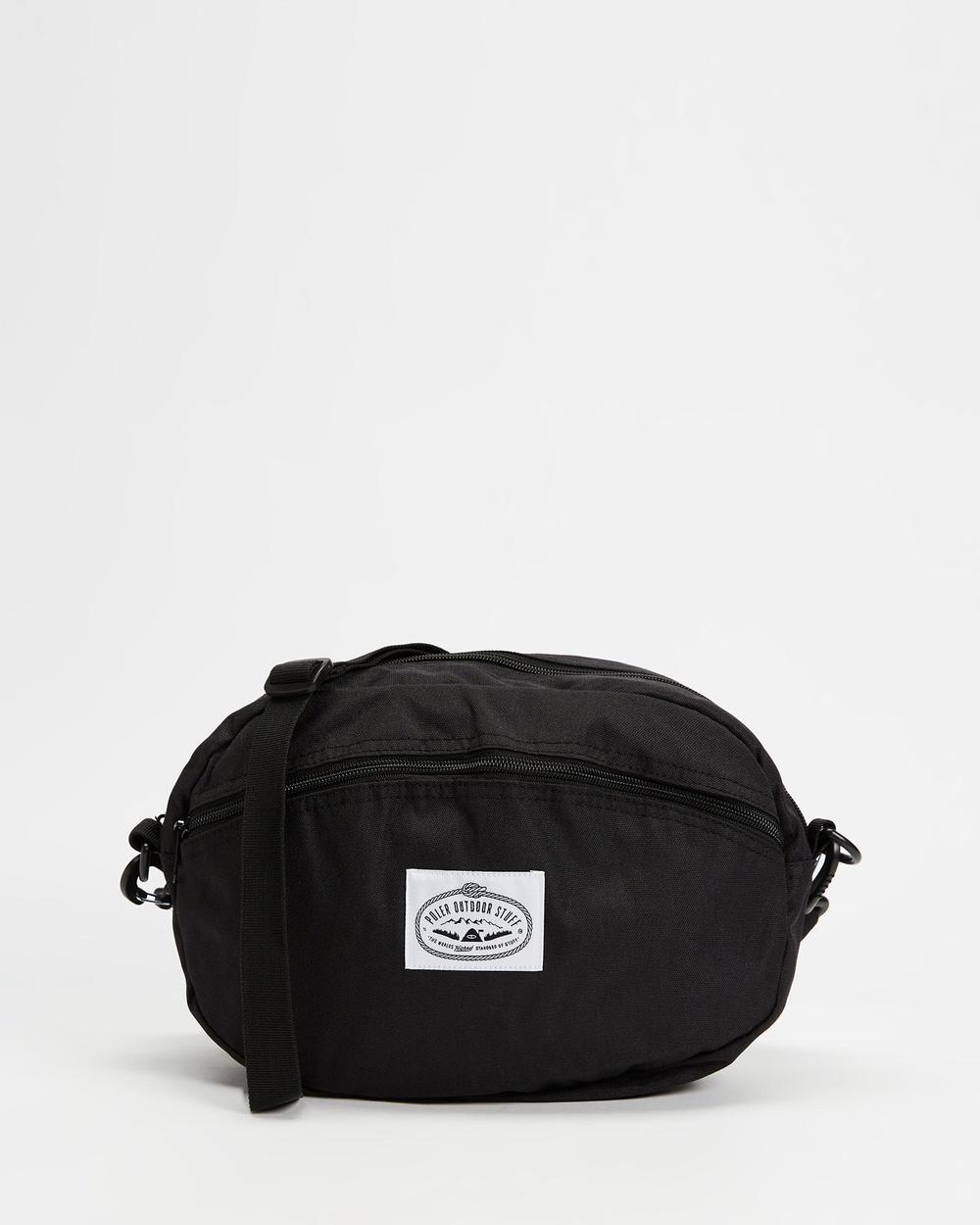 Poler Round Shoulder Bag Bags Black