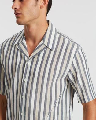 CERRUTI 1881 Striped Bowling Shirt - Casual shirts (Blue)