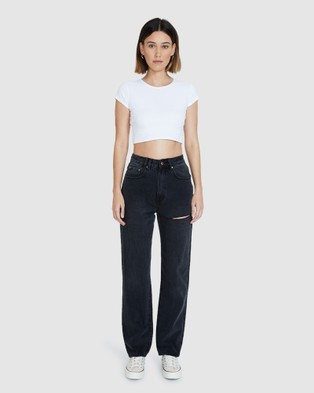 Insight Robin Relaxed Straight Jeans - Jeans (BLACK)