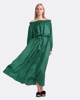 Cynthia Rowley – Printed Silk Maxi Dress – Dresses (Green)