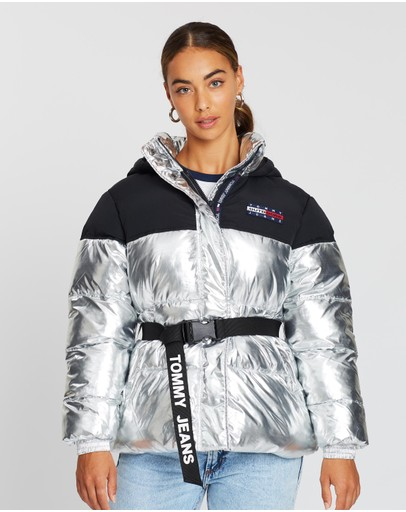 Tommy Jeans - Mix Media Belted Jacket