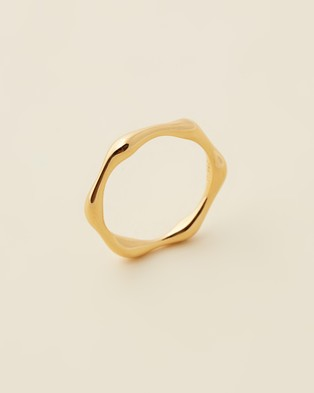 Missoma - Gold Molten Ring - Jewellery (18ct Gold Vermeil on Sterling Silver) Gold Molten Ring