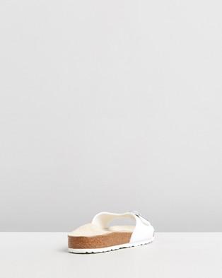 Birkenstock Womens Madrid Birko Flor Regular Slides - Sandals (Birko Flor White)