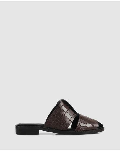 Sempre Di Falan Slides 304-brown/26-black
