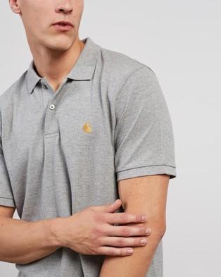 Carhartt SS Chase Pique Polo - Shirts & Polos (Grey Heather & Gold)