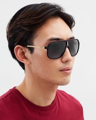 Carrera - 1007 S Sunglasses (Black, Gold & Red) 1007-S