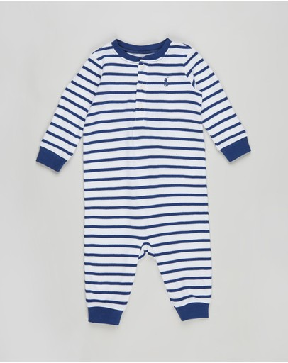 Polo Ralph Lauren - Stripe Henley One-Piece Coverall - Babies