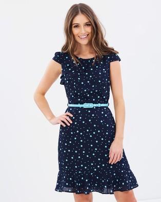 Review – Dita Spot Dress – Dresses (Navy & Angel Blue)