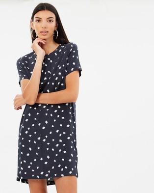 Elka Collective – Eli Dress – Printed Dresses Navy