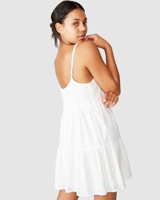 Cotton On Woven Betty Tiered Mini Dress - Dresses (White)