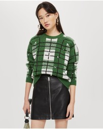 TOPSHOP - Leather Look Mini Skirt