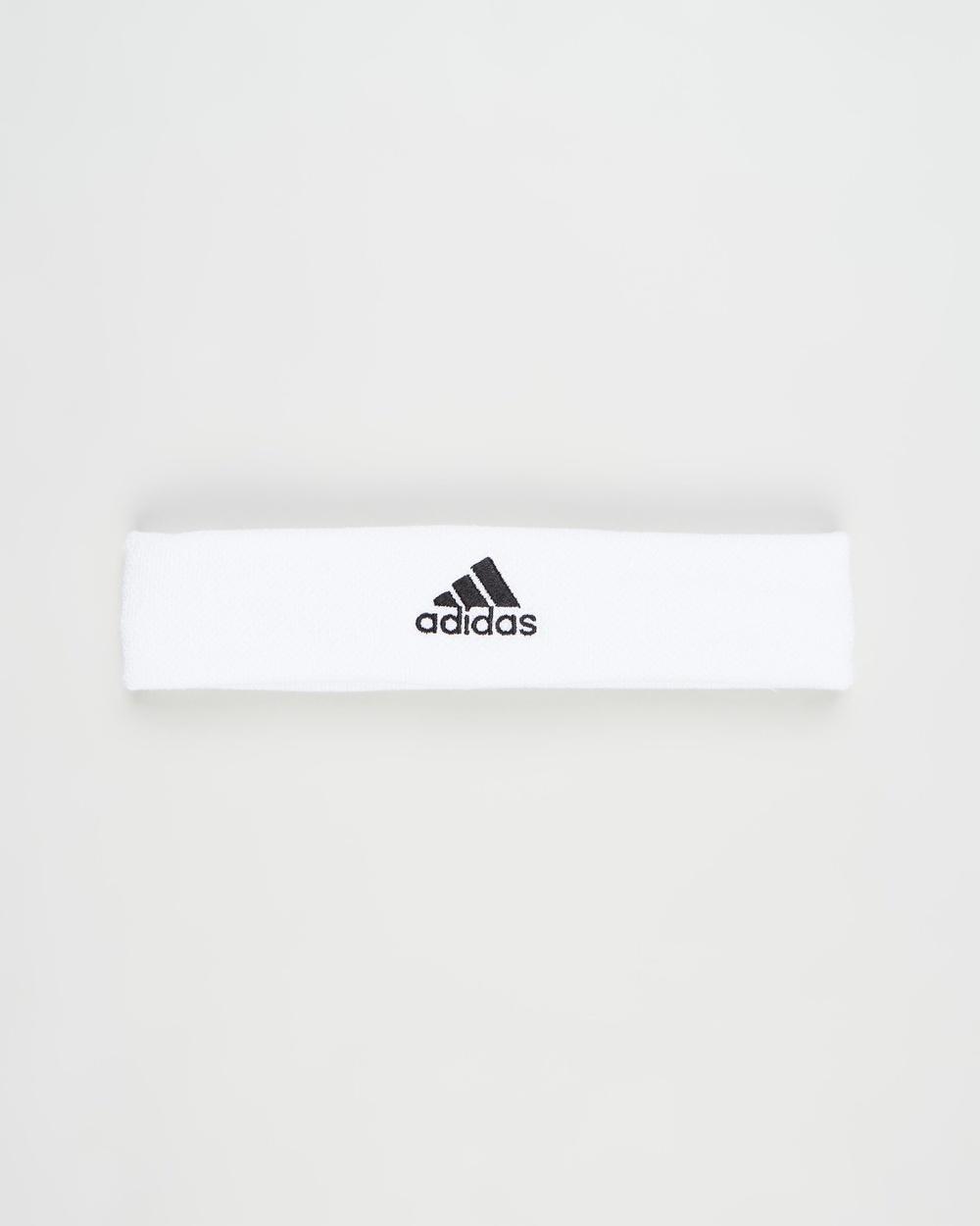 adidas Performance Tennis Headband Unisex Sweat Bands White & Black