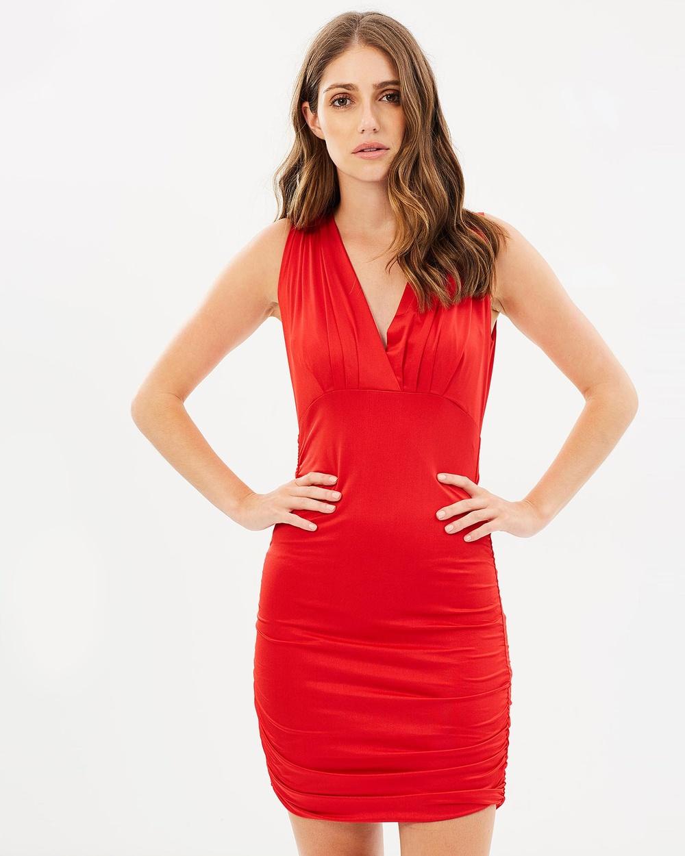 SKIVA Bodycon Mini Dress Dresses Red Bodycon Mini Dress