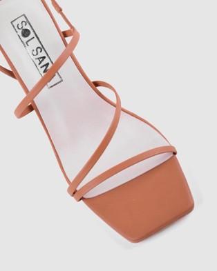 Sol Sana Geanie Heels - Sandals (Toffee)