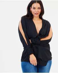 Missguided Curve - Cold Shoulder Twist Top